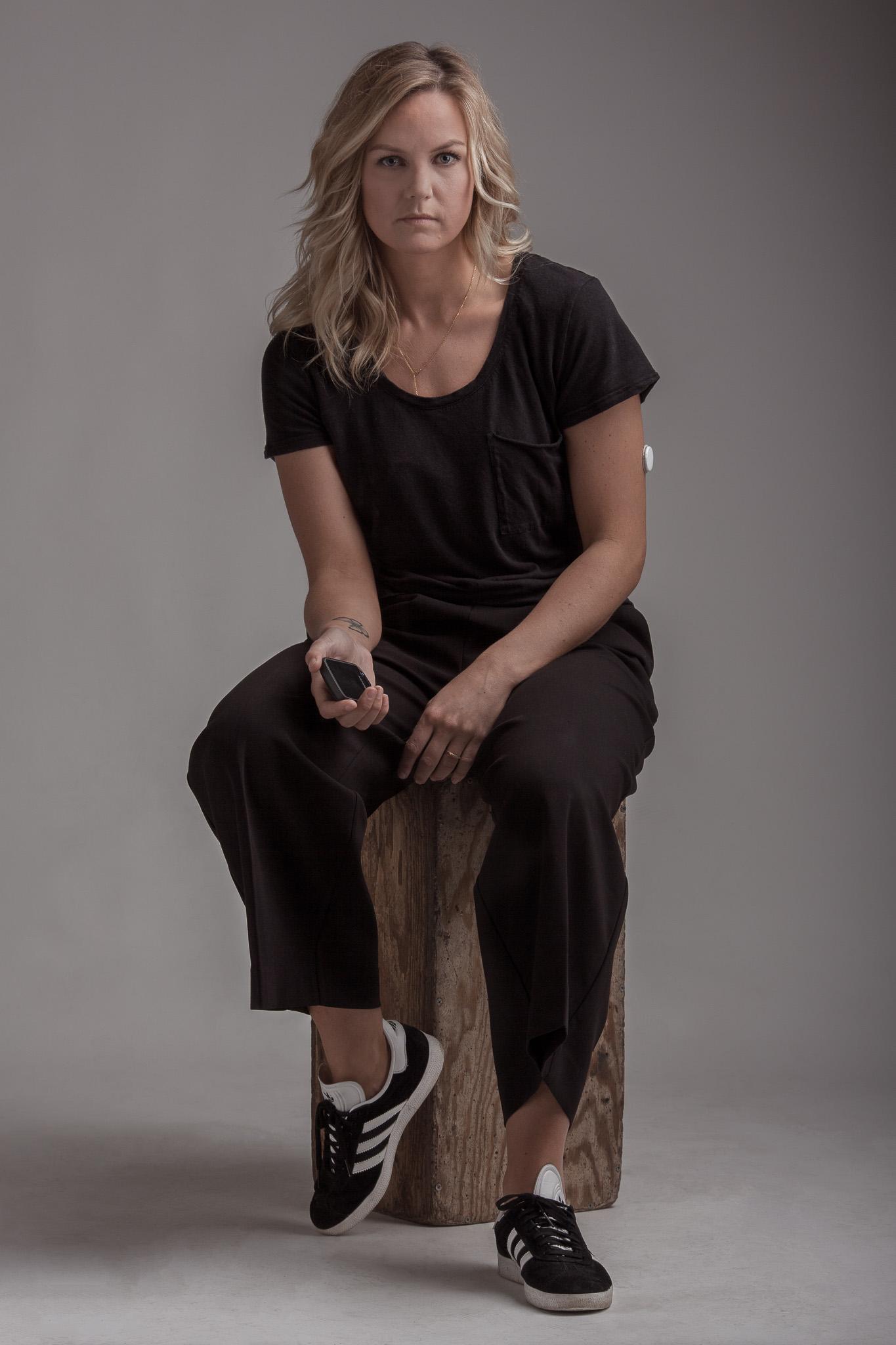 En bild för diabetes - Nina Sikkeland. Foto: Calle Appelqvist